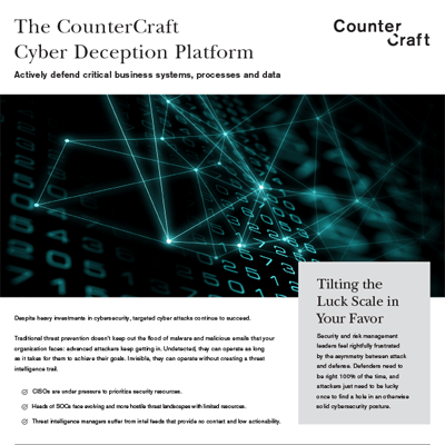 CounterCraft Cyber Deception Platform