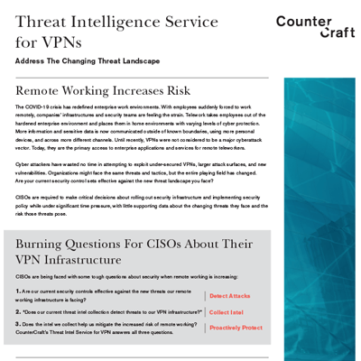 Threat Intelligence Service for VPNs