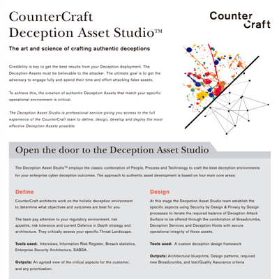 CounterCraft Deception Asset Studio™