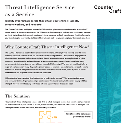 Threat Intelligence Service as a Service