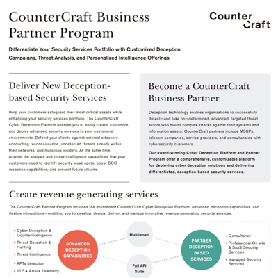 CounterCraft Business Partner Program