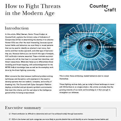 How to fight threats in the modern age